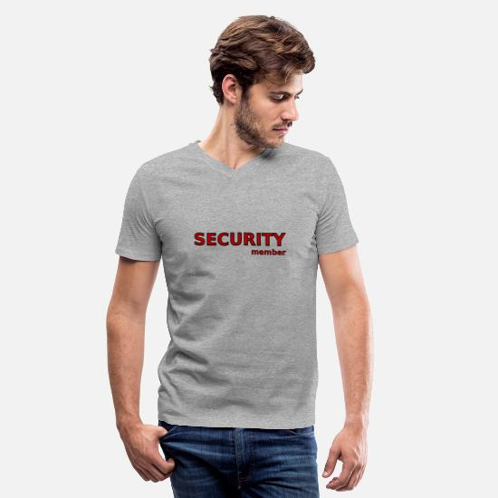 Security Service T-Shirts - Security - Men's V-Neck T-Shirt heather gray
