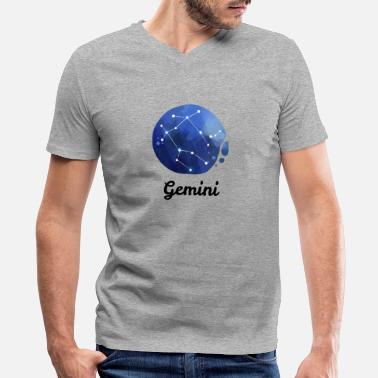 Astrology Constellation Gemini Zodiac Sign Constellations Astrology Gift - Men's V-Neck T-Shirt by Canvas