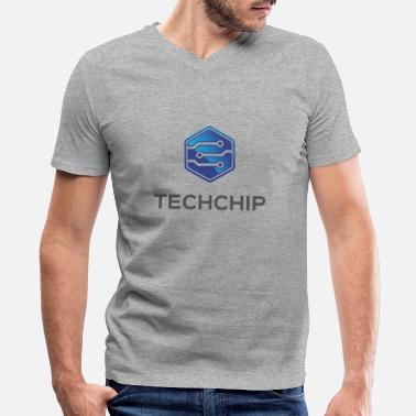 Chip Leader Tech Chip - Men's V-Neck T-Shirt