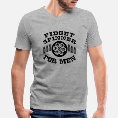 Revolver Revolver Fidget Spinner For Men ©WhiteTigerLLC . - Men's V-Neck T-Shirt