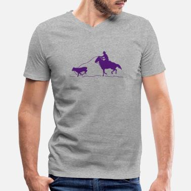 Calf Calf Roping - Men's V-Neck T-Shirt