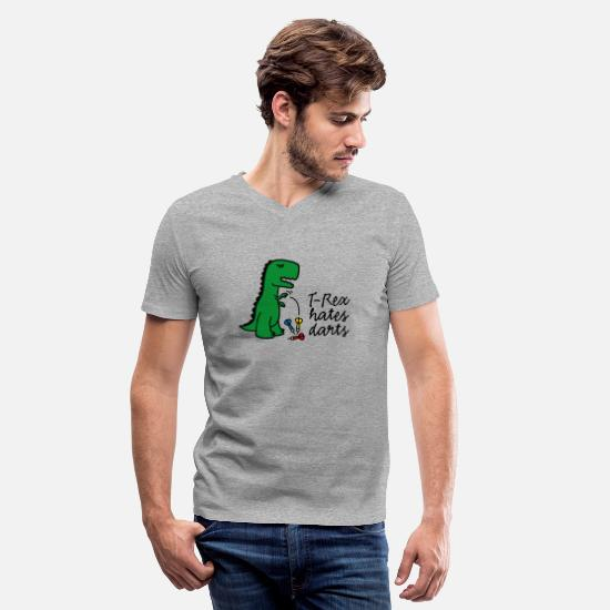 bb7d0c657b Game T-Shirts - T-Rex hates darts dartboard darts player dinosaur - Men's