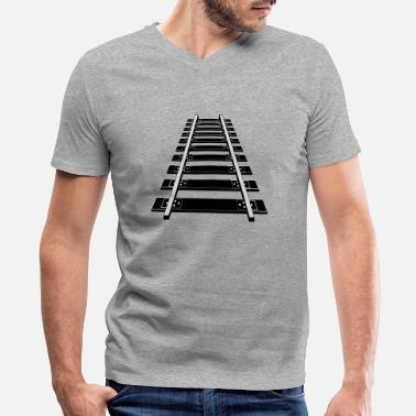 Railway Track Railway Tracks - Men's V-Neck T-Shirt