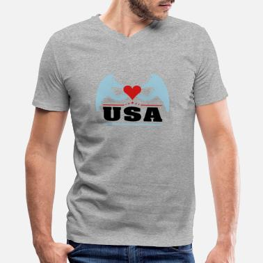 Awesome Fresh Hipster Stlye Fat Create Your Own USA - Men's V-Neck T-Shirt