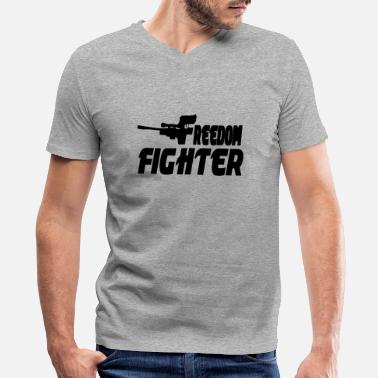 Freedom Fighter - Men's V-Neck T-Shirt