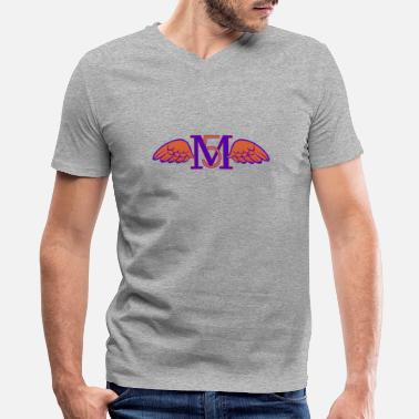 Maroon M5 (wings) - Men's V-Neck T-Shirt