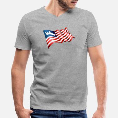 New Kingdom New Kingdom of America Flag - Men's V-Neck T-Shirt by Canvas