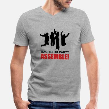 Anchorman style bachelor party assemble T-shirt - Men's V-Neck T-Shirt