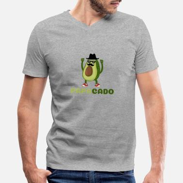 Healthy Eating Avocado Funny Papacado Avocado Costume for Dad - Men's V-Neck T-Shirt