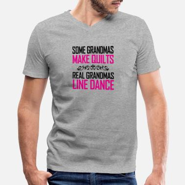 Dance Grandma real grandmas like dance - Men's V-Neck T-Shirt by Canvas
