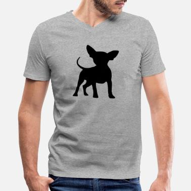 Chihuahua Owner chihuahua - Men's V-Neck T-Shirt by Canvas