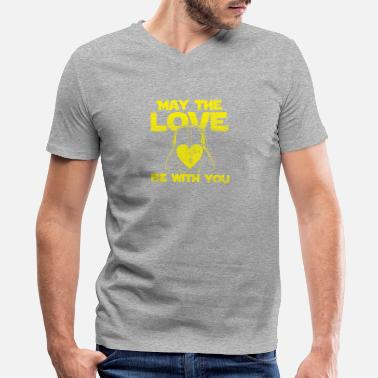May The Love Be With You May the love be with you - Men's V-Neck T-Shirt