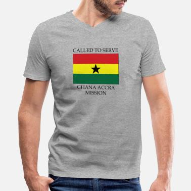 Accra Ghana Accra LDS Mission Called to Serve Flag - Men's V-Neck T-Shirt