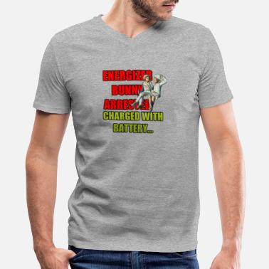 Energizer ENERGIZER BUNNY ARRESTED CLOTHES - Men's V-Neck T-Shirt by Canvas