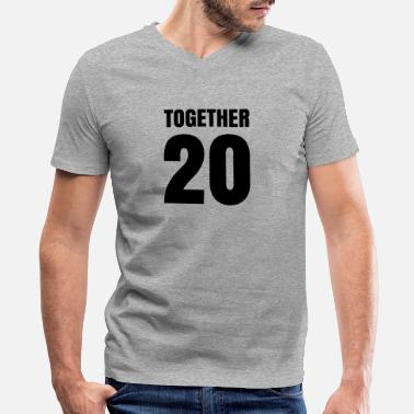 Together Together Since Together - Men's V-Neck T-Shirt by Canvas