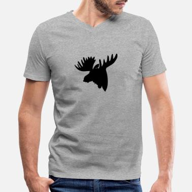 Elk Canada elk - Men's V-Neck T-Shirt by Canvas