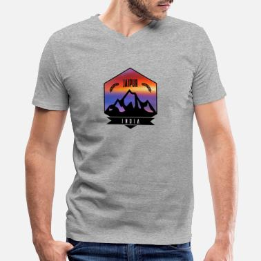 Jaipur Jaipur India - Men's V-Neck T-Shirt by Canvas