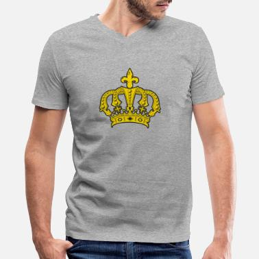 Glut Golden Crown - Men's V-Neck T-Shirt by Canvas