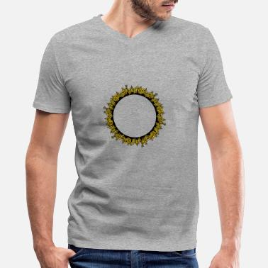 Skyline City Ring Skyline - Men's V-Neck T-Shirt