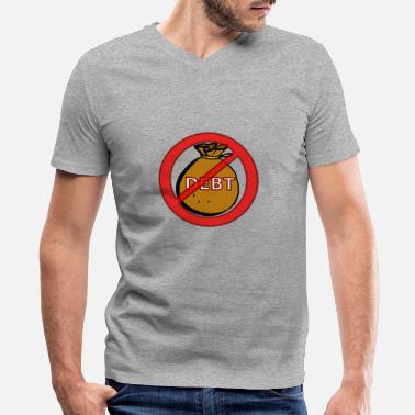Debt debt - Men's V-Neck T-Shirt