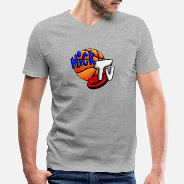 Big Tall Nick TV Big and Tall - Men's V-Neck T-Shirt by Canvas