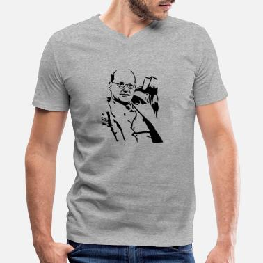 Nakedpastor Bonhoeffer - Men's V-Neck T-Shirt