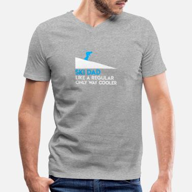 Ski Lover Awesome Shirt For Skiing Lover. - Men's V-Neck T-Shirt by Canvas
