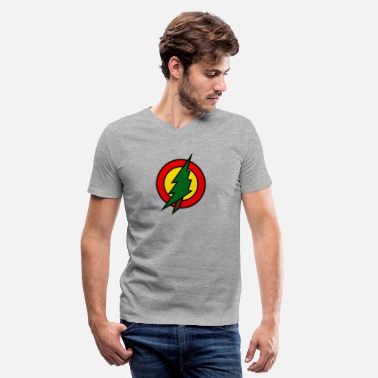 Superhero T-Shirts - superhero - Men's V-Neck T-Shirt heather gray