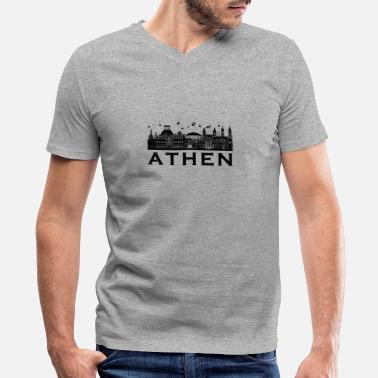 Athens Athens maincapital of greece town gift - Men's V-Neck T-Shirt by Canvas