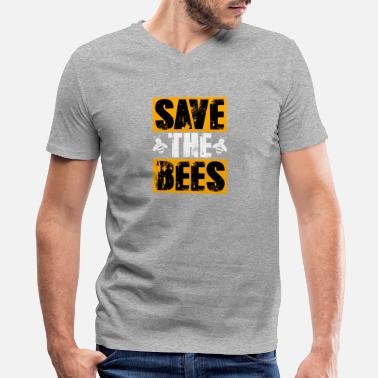 993b45d9 Save the Bees Animal Rights Nature Lovers - Men's V-Neck