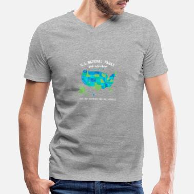 Parks National Park T Shirts - Men's V-Neck T-Shirt