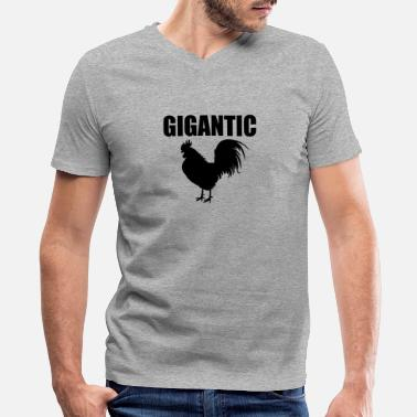 Adult Penis Gigantic Cock Penis Adult Sex Rooster Dick Huge - Men's V-Neck T-Shirt by Canvas