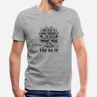 Successful Success is liking yourself - Men's V-Neck T-Shirt