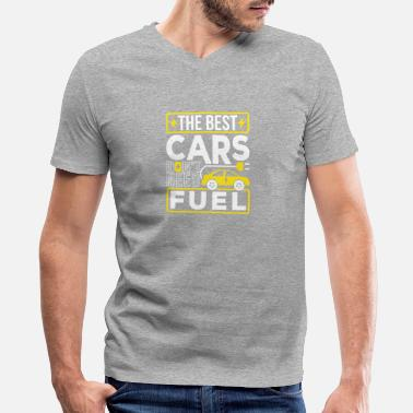 Model The Best Cars Don't Need Fuel Electric Vehicle - Men's V-Neck T-Shirt