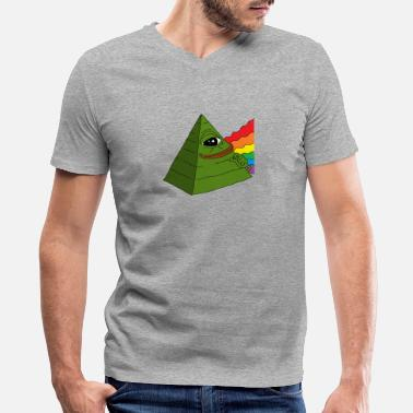 Frog Illuminati pepe - Men's V-Neck T-Shirt