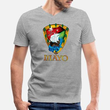 Unique Sports Unique Mayo Sheild - Men's V-Neck T-Shirt