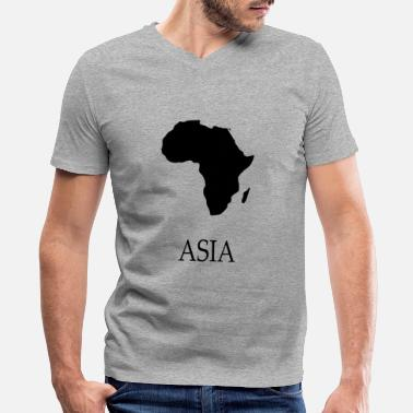 Africa Funny Africa Shirt with Asia black - Men's V-Neck T-Shirt