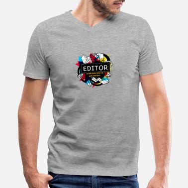 Editor EDITOR - Men's V-Neck T-Shirt by Canvas