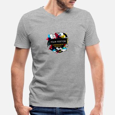 Editor FILM EDITOR - Men's V-Neck T-Shirt by Canvas