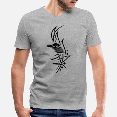 Tribal Tribal, tattoo with crows head. - Men's V-Neck T-Shirt
