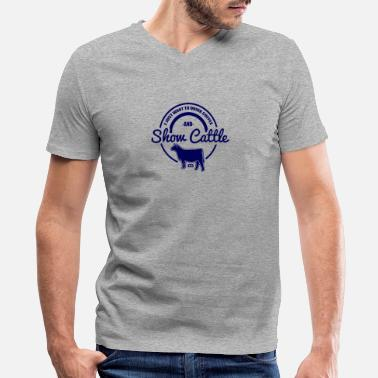Show Cattle show cattle - Men's V-Neck T-Shirt by Canvas