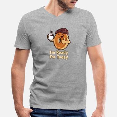 Shops I'm Ready For Today - Men's V-Neck T-Shirt by Canvas