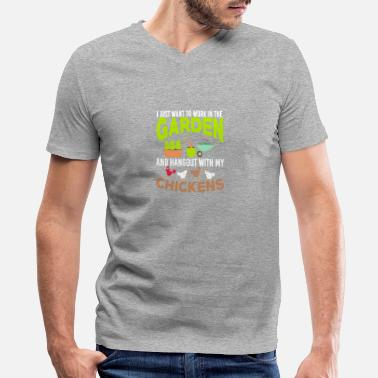 Garden I JUST WANT TO WORK IN THE GARDEN - Men's V-Neck T-Shirt