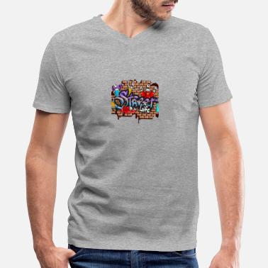 Rapper graffiti artists - Men's V-Neck T-Shirt