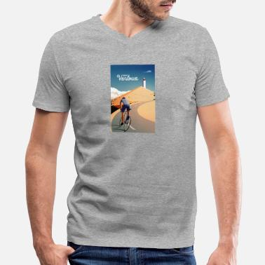 Typography Cycling typography - Men's V-Neck T-Shirt by Canvas