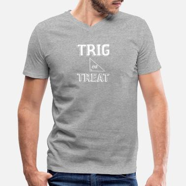 Trig Trig Or Treat1 - Men's V-Neck T-Shirt by Canvas