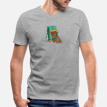 Microwave Microwave - Men's V-Neck T-Shirt by Canvas