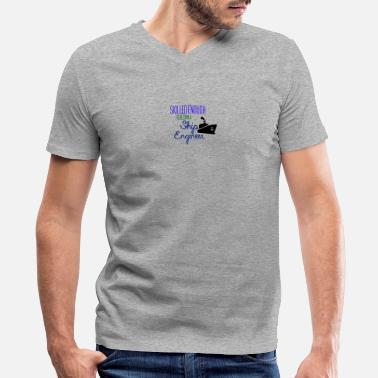 Ship Engineer Ship Engineer - Men's V-Neck T-Shirt by Canvas