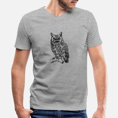Clip Art Owl art clip art - Men's V-Neck T-Shirt