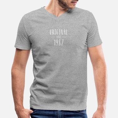 Born In 1987 Original since 1987 - Born in 1987 - Men's V-Neck T-Shirt by Canvas
